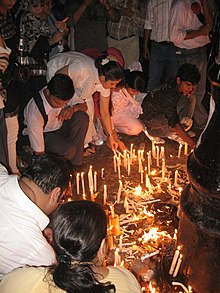 Candlelight vigil against terrorism