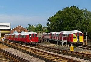 Ryde depot - Class 483 trains stabled at Ryde depot