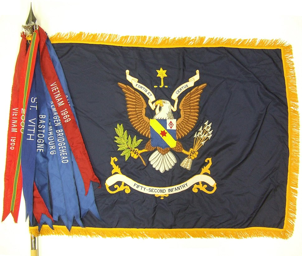 52d Infantry Regimental Colors with streamers 2008