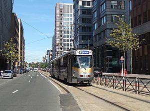 Brussels tram route 81 - PCC 7942 in Avenue Fosney.