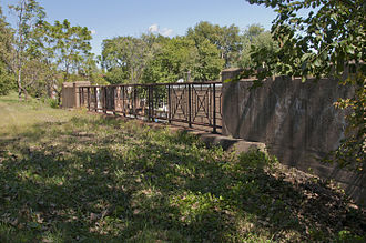 83rd Street (Avalon Park) station - The former Nickel Plate Road bridge over 83rd Street, a station was located here.