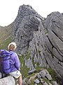 A'Chir ridge and the 'Le Mauvais Pas' - geograph.org.uk - 1358415.jpg