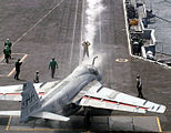 A-6E Intruder takes up position to launch aboard USS Enterprise.jpg