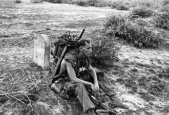 Operation Swift - A forward air controller attached to 1/5 Marines takes a break