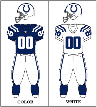 2007 Indianapolis Colts season - Image: AFCS 2002 2011 Uniform IND