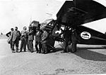 AL79-061 Stinson R cn 8510 NC12157 Mobiloil LeBourget Airfield, France May32 (14121446497).jpg