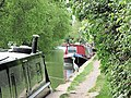 A Heron fishing between the Narrowboats - geograph.org.uk - 1467702.jpg