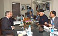 A Italian delegation led by the Minister of Economic Development, Mr. Claudio Scajola meeting the Union Minister of New and Renewable Energy, Dr. Farooq Abdullah, in New Delhi on December 14, 2009 (1).jpg
