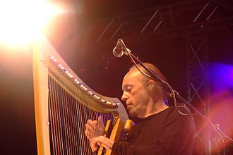 Celts (modern) - Breton harpist and Celtic music exponent Alan Stivell at Nuremberg, Germany, 2007