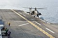 A U.S. Army AH-64D Apache Longbow helicopter assigned to the 4th Aerial Reconnaissance Battalion, 2nd Combat Aviation Brigade, 2nd Infantry Division lands aboard the amphibious assault ship USS Bonhomme Richard 140411-N-JH188-075.jpg