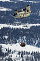 A U.S. Army CH-47F Chinook helicopter carrying equipment and supplies makes its way to the Kahiltna Glacier in Denali National Park, Alaska, April 26, 2013 130426-A-SO352-007.jpg