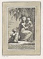 A Woman Standing at the Foot of a Tree Holding an Infant, with a Seated Boy Met DP887817.jpg