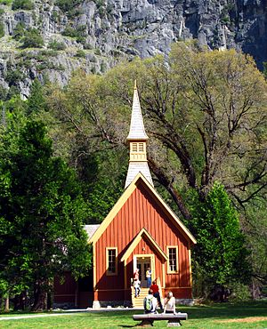 Yosemite Valley Chapel - Yosemite Valley Chapel in natural setting.