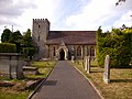 A close up view of Titley church and graveyard - geograph.org.uk - 219550.jpg