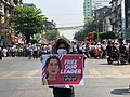 A girl with a protest sign - Yangon 2.jpg