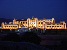 Pakistan-Government and politics-A night side view of Prime Minister's Secretariat Building