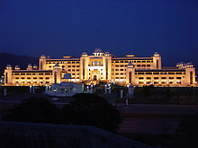 A night side view of Prime Minister's Secretariat Building.jpg