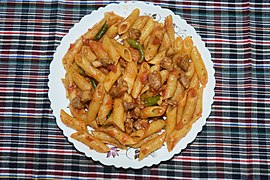 A plate of red sauce pasta.jpg