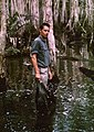 A portrait of Australian ecologist Peter Stanton taken whilst conducting a vegetation survey in the Tully Swamp in 1974.jpg