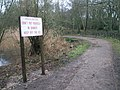 A stern warning by the path at The Heath Pond - geograph.org.uk - 1134669.jpg