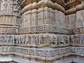 A view of the outer wall at the Sun Temple, Modera, Gujarat.jpg