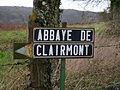 Abbaye de Clermont pannonceau de l'entrée.JPG