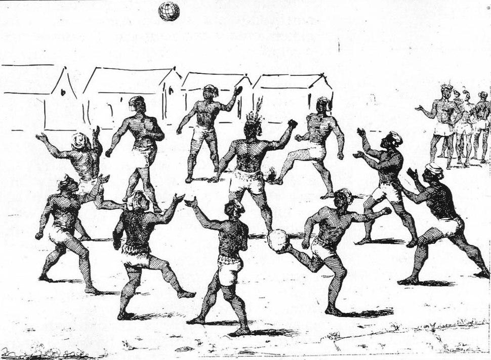 Aborigines playing football guiana