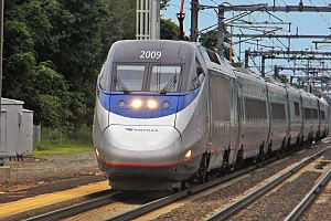 Northeast Corridor - Amtrak Acela Express near Old Saybrook, Connecticut