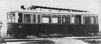 Diesel locomotive - Petrol-electric Weitzer railmotor, first 1903, series 1906