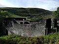Adfeilion Gorsaf Bŵer Pont Ceunant, Ceredigion, yr ochr ddwyreiniol o'r gogledd-ddwyrain.jpg