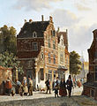 Adrianus Eversen Figures in a busy street 1853.jpg
