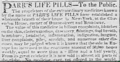 "Advertisement for patent medicine ""Parr's Life Pills"" in New-York daily tribune 16 Aug. 1842.png"