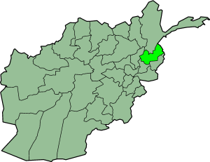 Kafiristan - Map showing present-day Nuristan Province of Afghanistan