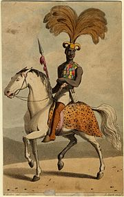African mounted soldier, c.1820