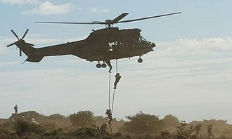 6 South African Infantry Battalion - Image: Air Assault Infantry SANDF with Oryx