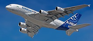 Flyover in Airbus factory livery