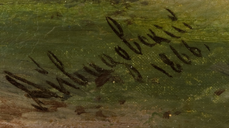 Aivazovsky 1866 signature