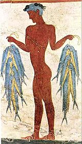 Akrotiri - Fresco of a fisherman.jpg
