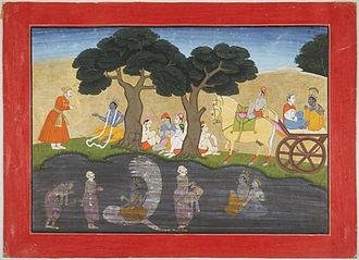 Akrura - Akrura's Mystic Vision of Krishna, Bhagavata Purana
