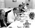 Al Worden, Dave Scott, Deke Slayton, and Jack Schmitt dig into the pre-launch breakfast.jpg