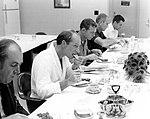 Al Worden, Dave Scott, Deke Slayton, and Jack Schmitt dig into the pre-launch breakfast.jpg