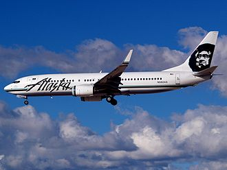 The Boeing 737-800 replaced the airline's MD-83s, which were retired in August 2008. Alaska Airlines Boeing 737-890 N562AS.jpg