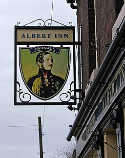 Albert Inn pub sign, 162 Darnall Road, Darnall - geograph.org.uk - 1249152