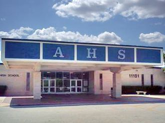Aldine High School - Image: Aldine High School Facade 2013