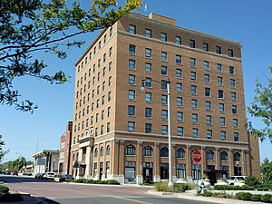 National Register of Historic Places listings in Pottawatomie County, Oklahoma - Image: Aldridge Hotel 2012 09 26 18 11 21