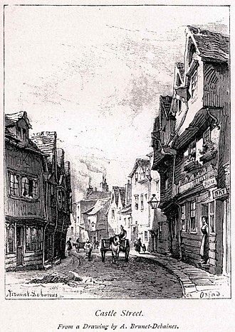 Castle Street, Oxford - 19th-century view of Castle Street in Oxford