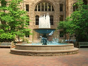 Allegheny County Courthouse - Image: Allegheny County Courthouse Fountain