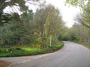 Allercombe - Image: Allercombe Hill Cross geograph.org.uk 175085