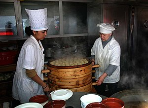 Kazakh cuisine - Preparation of a meal in Kazakhstan