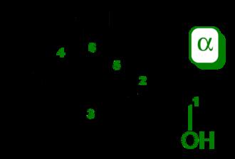 Carbohydrate - Image: Alpha D glucopyranose 2D skeletal